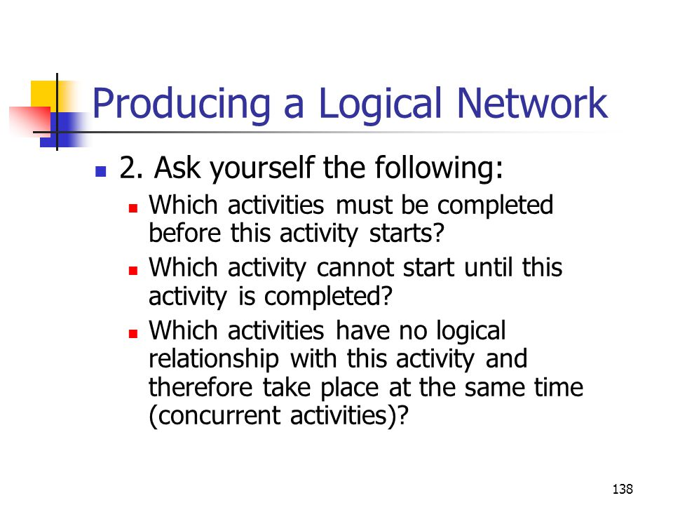 Producing a Logical Network