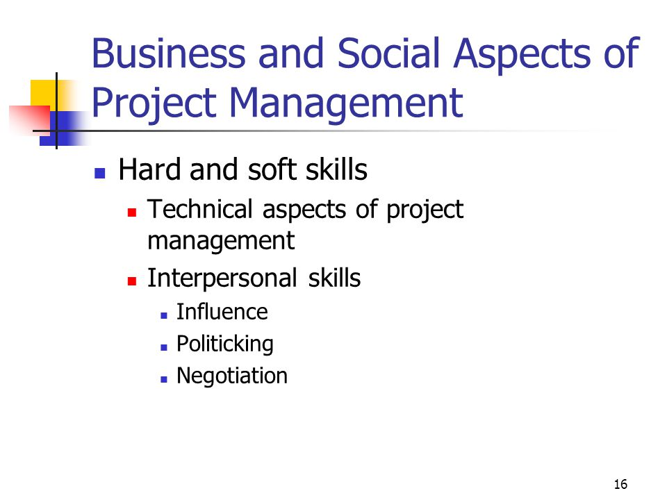 Business and Social Aspects of Project Management
