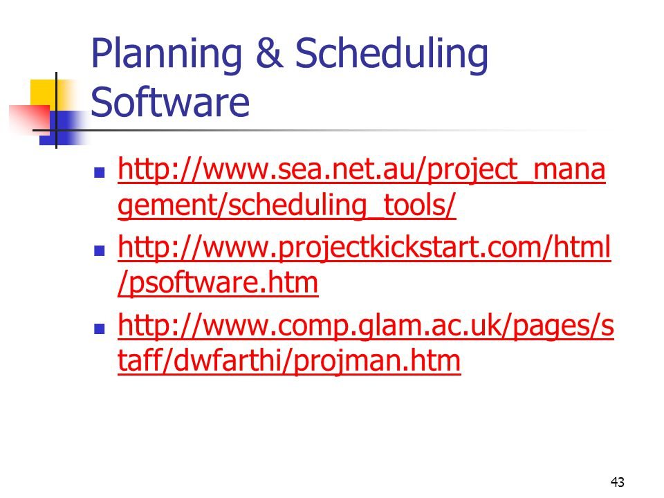 Planning & Scheduling Software