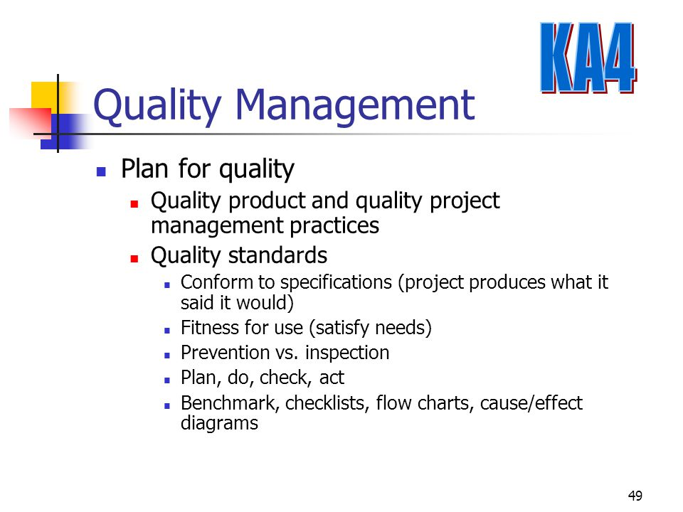 Quality Management KA4 Plan for quality
