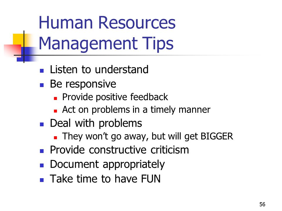 Human Resources Management Tips