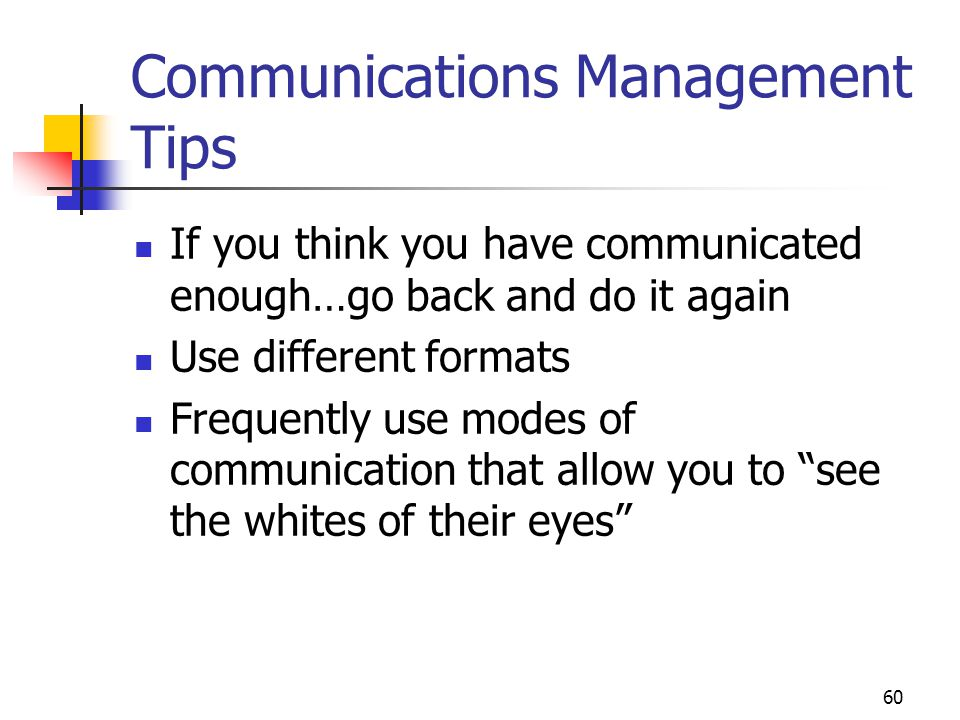 Communications Management Tips