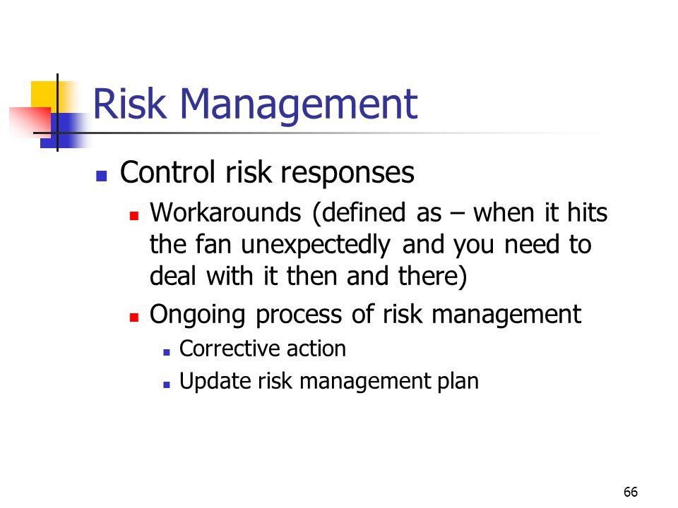 Risk Management Control risk responses