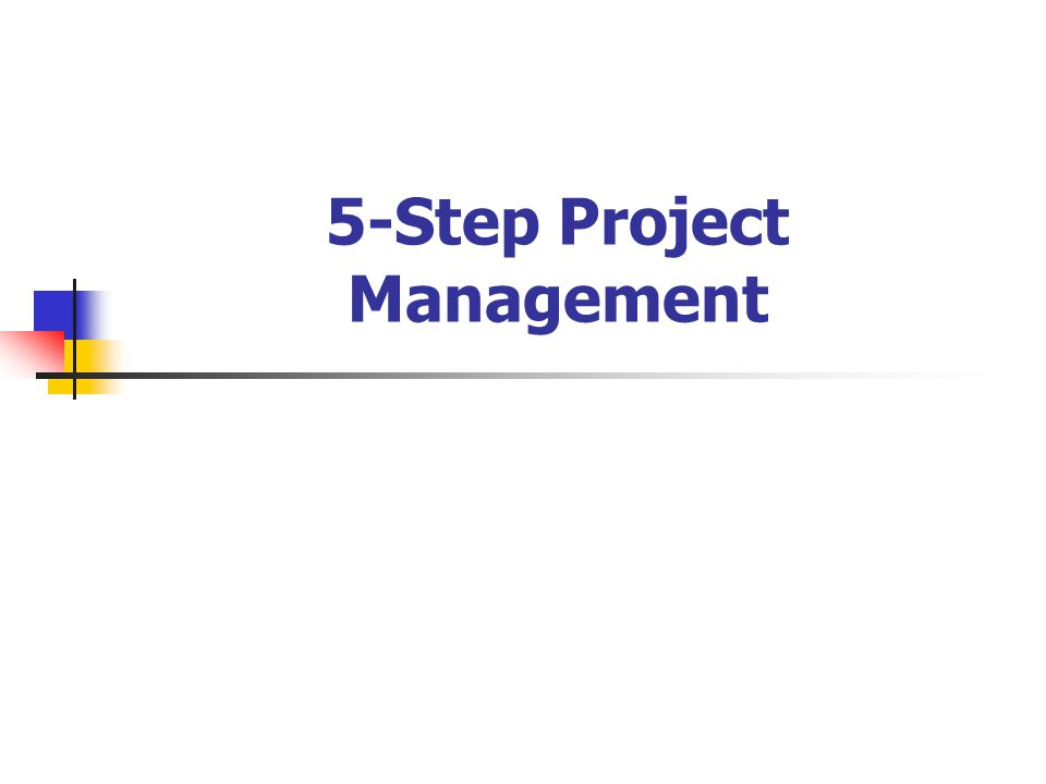 5-Step Project Management