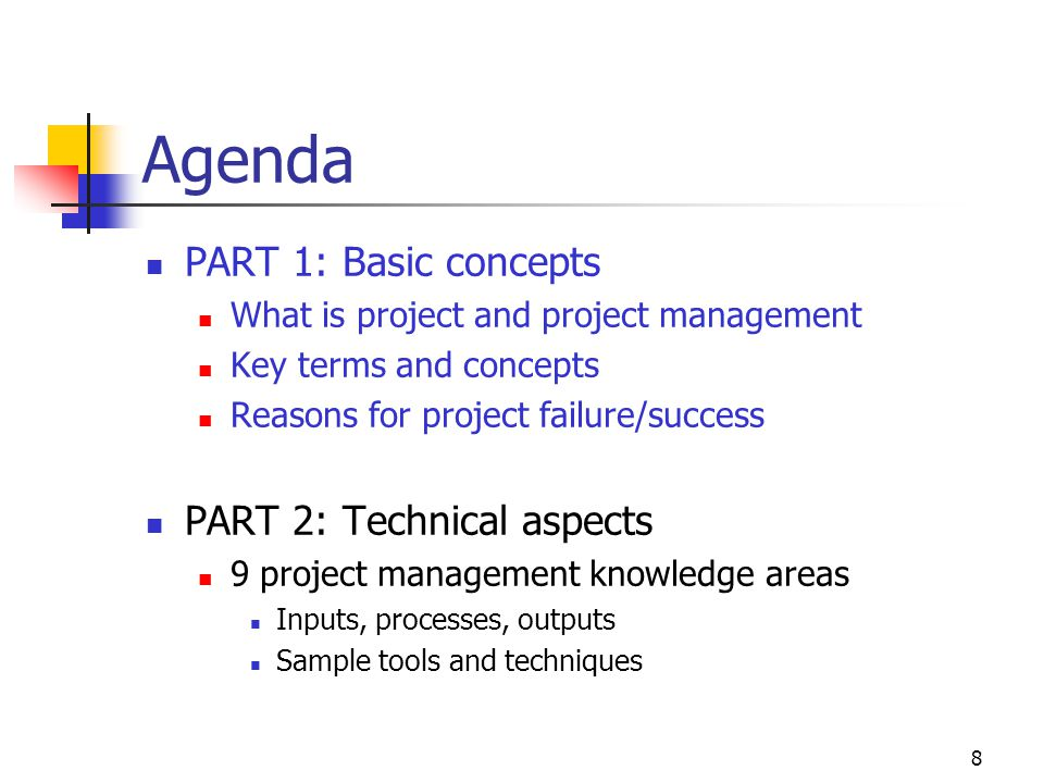 Agenda PART 1: Basic concepts PART 2: Technical aspects
