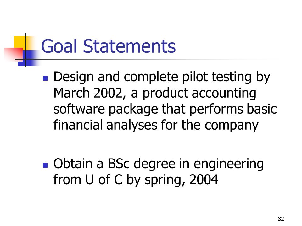 April 2002 Goal Statements.