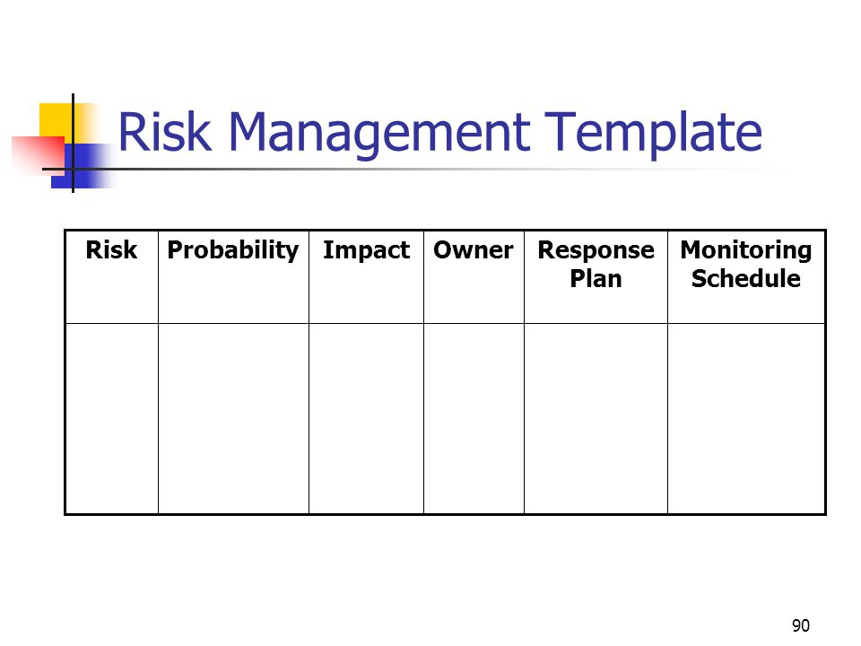 Risk Management Template