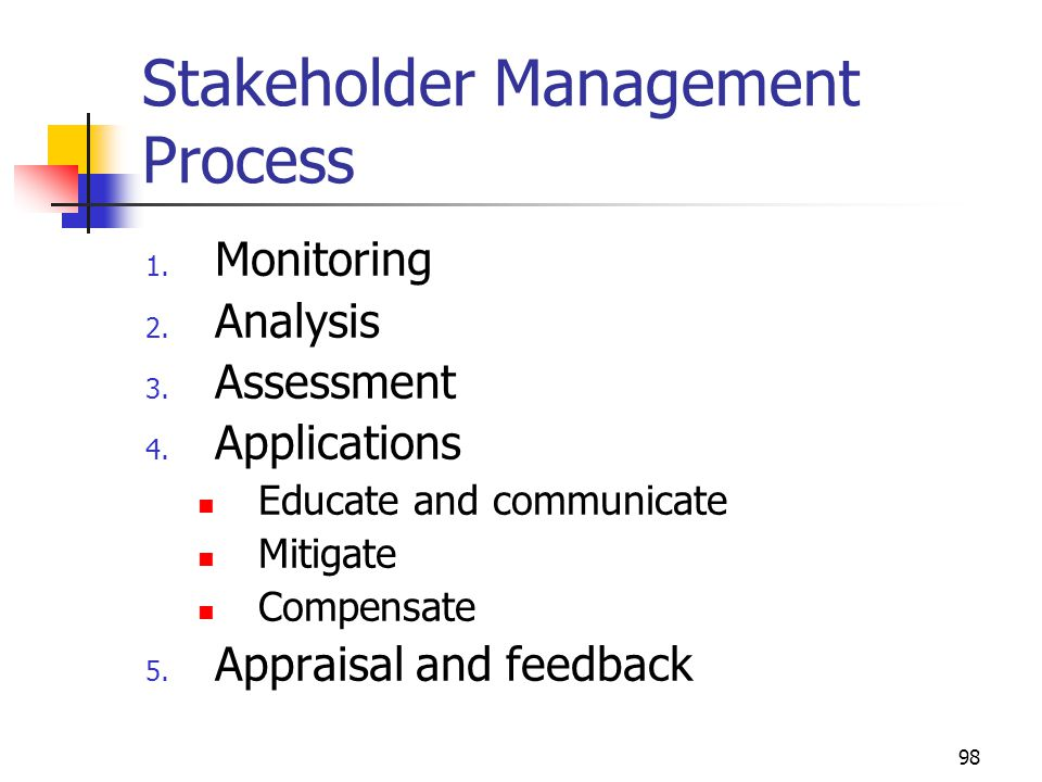 Stakeholder Management Process