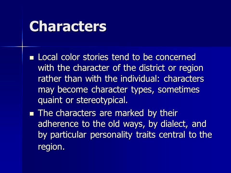 Local Color/Regional Literature
