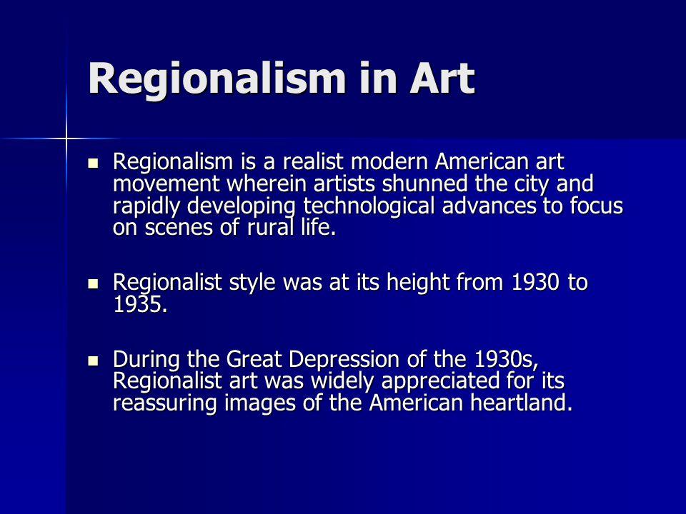 Regionalism & Local Color 1865-1920