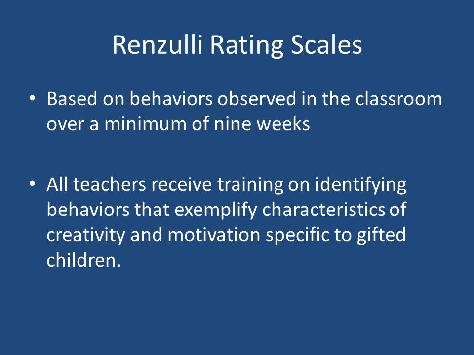 Renzulli Rating Scales
