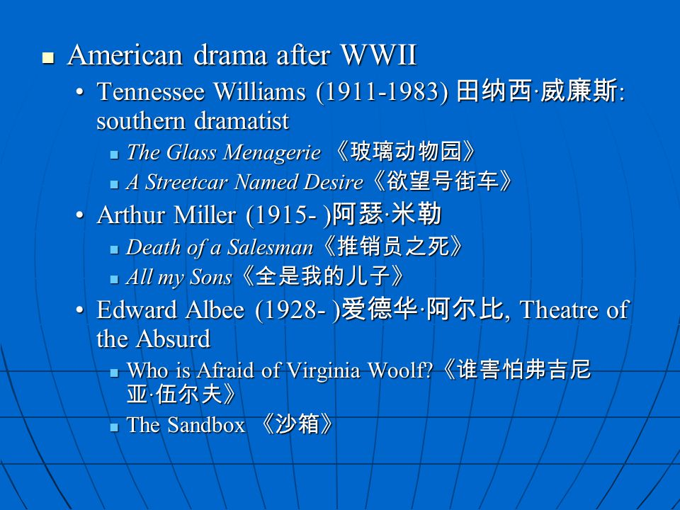 American drama after WWII