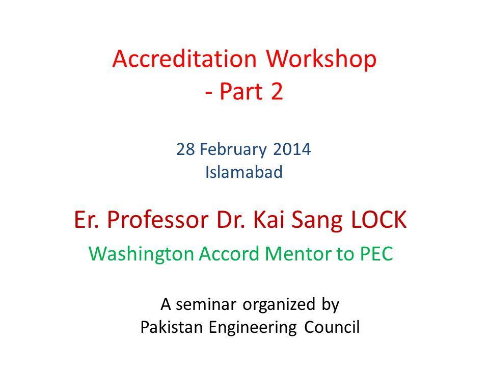 Accreditation Workshop - Part 2