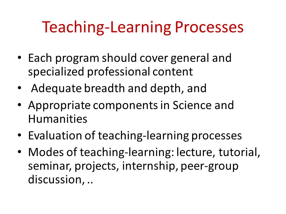 Teaching-Learning Processes