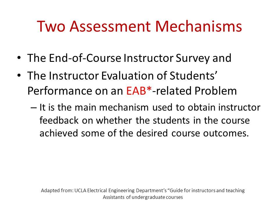Two Assessment Mechanisms