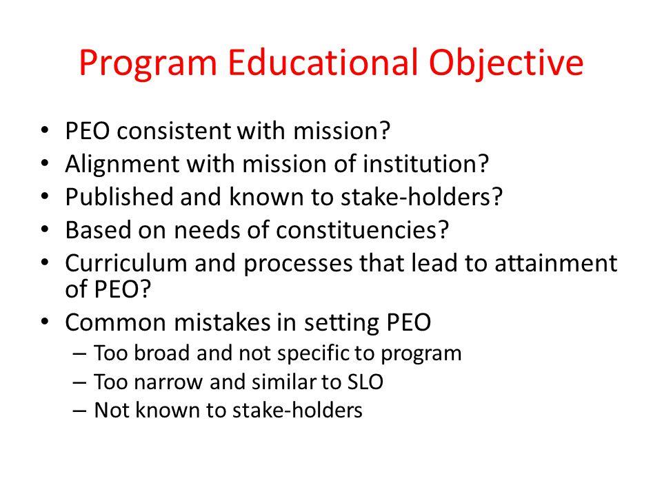 Program Educational Objective