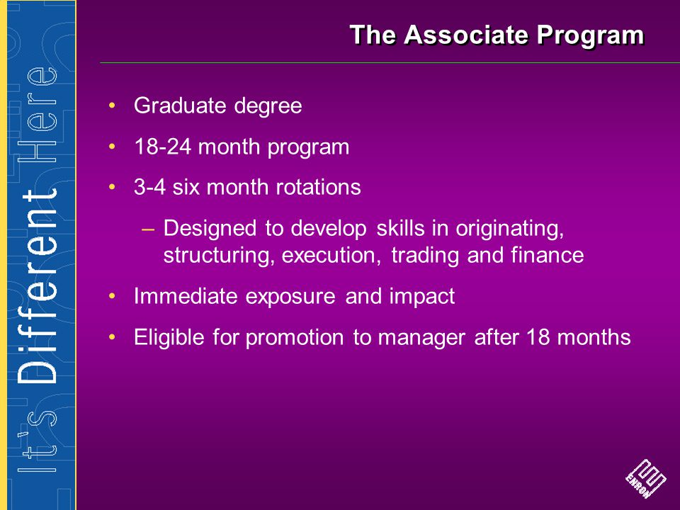 The Associate Program Graduate degree 18-24 month program