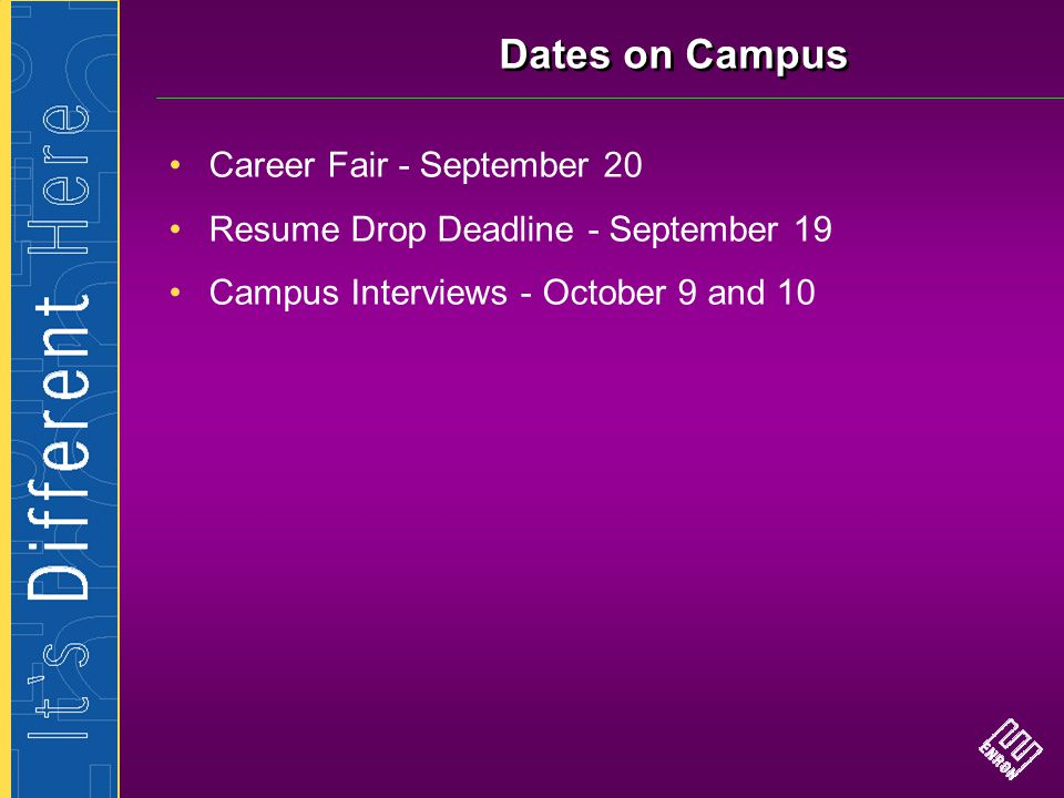 Dates on Campus Career Fair - September 20