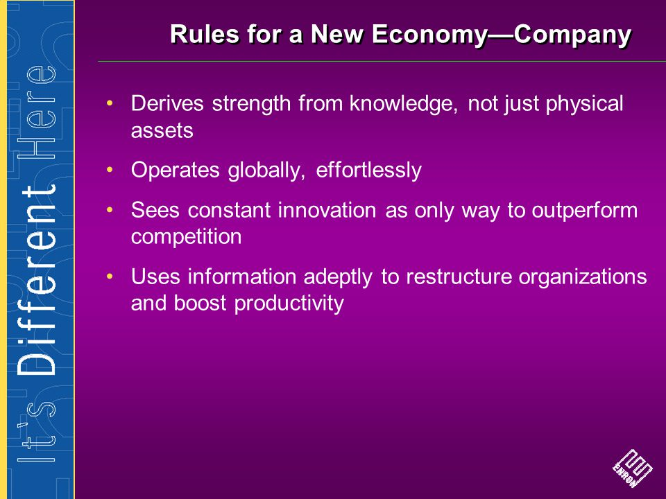 Rules for a New Economy—Company
