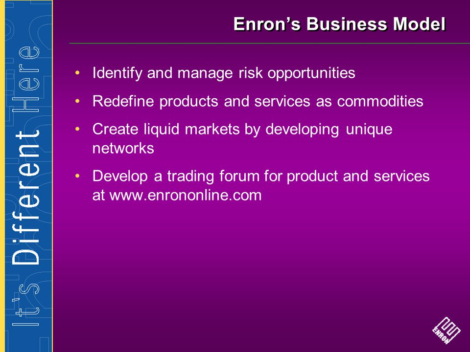 Enron's Business Model