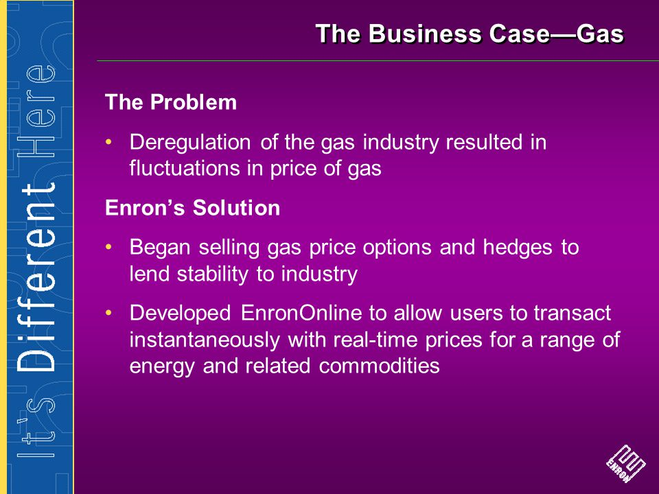 The Business Case—Gas The Problem