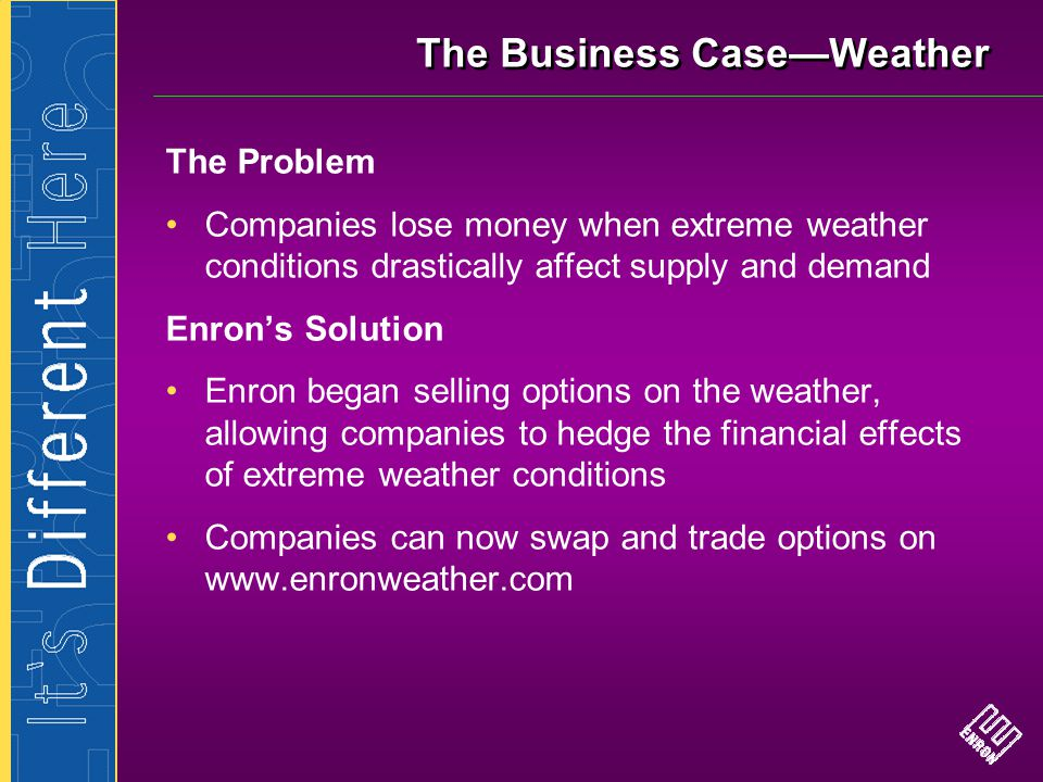 The Business Case—Weather