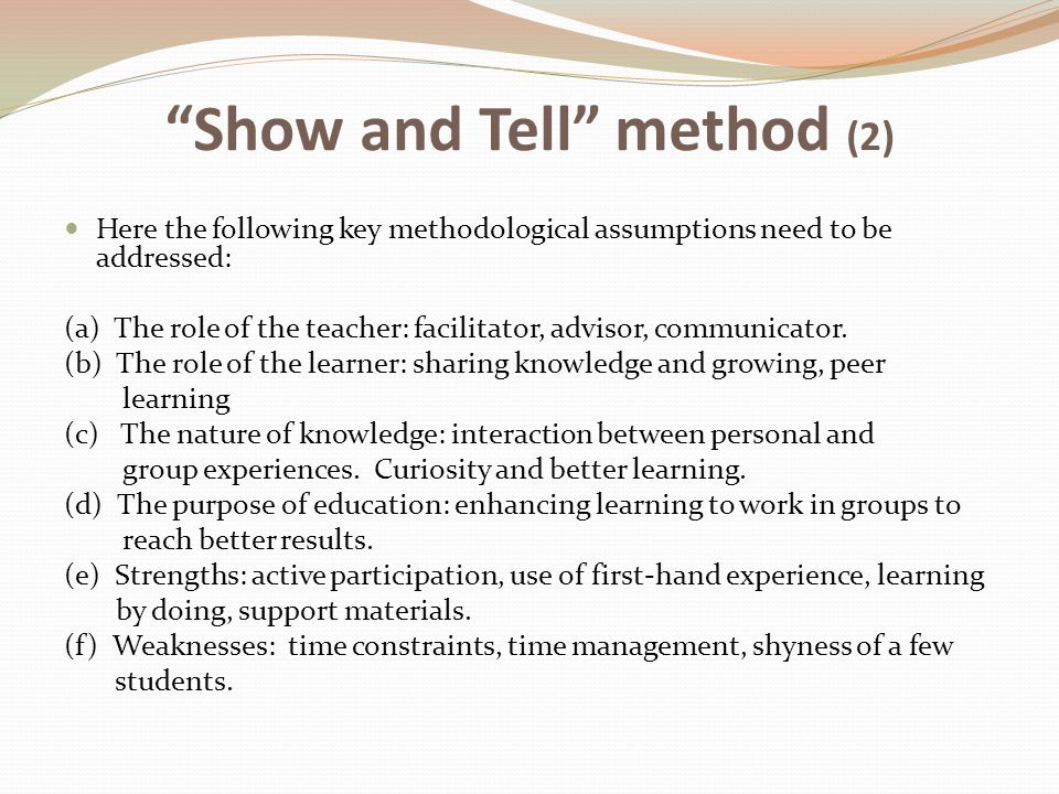 Show and Tell method (2)