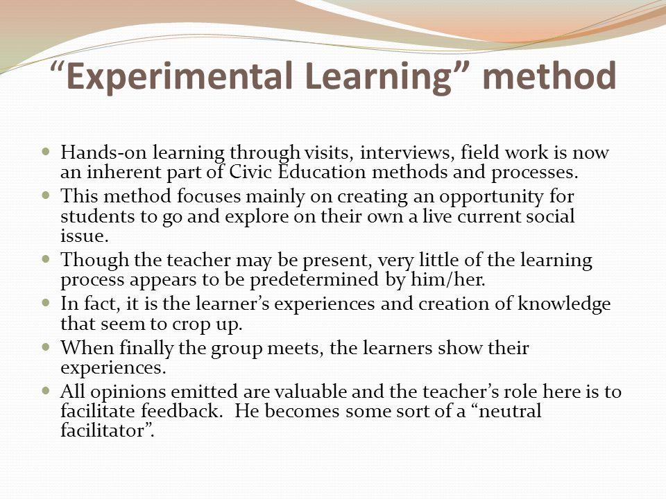 Experimental Learning method