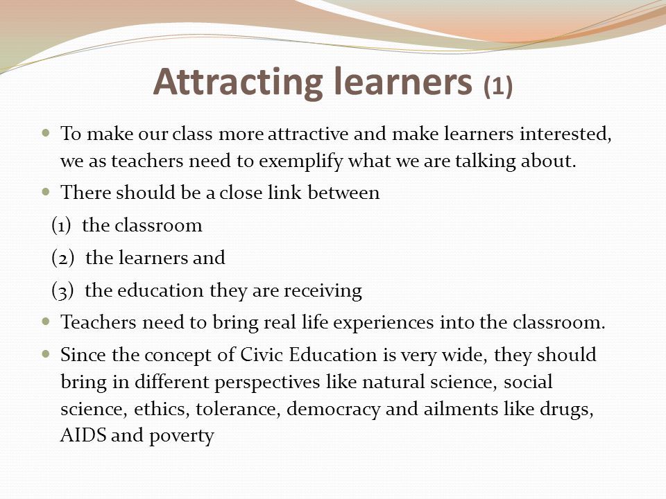 Attracting learners (1)