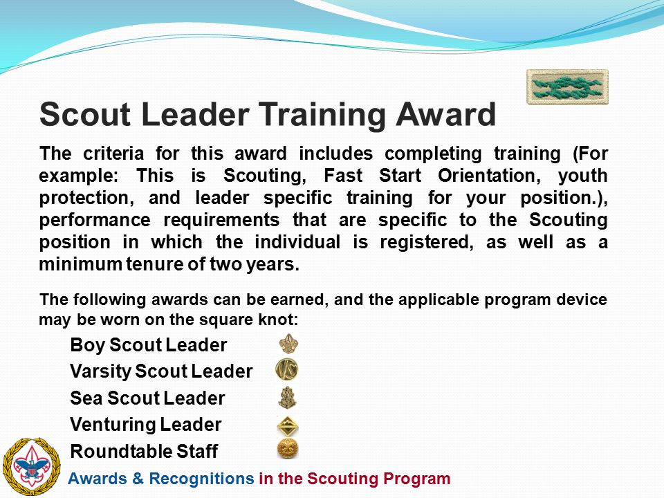 Scout Leader Training Award