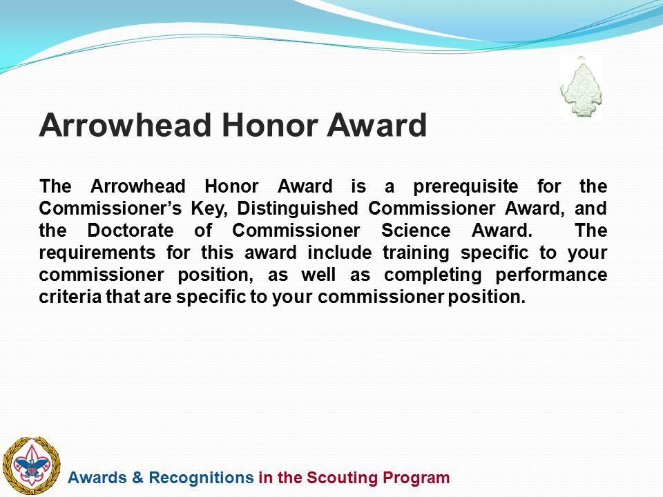 Arrowhead Honor Award