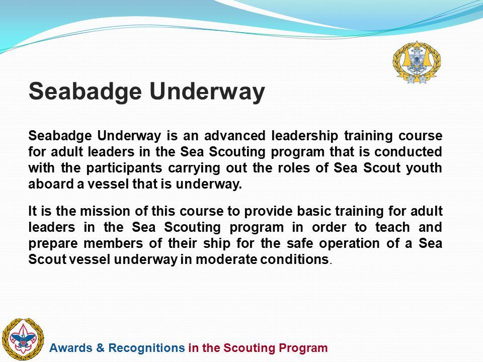 Seabadge Underway