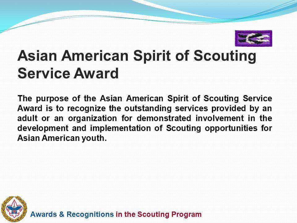 Asian American Spirit of Scouting Service Award
