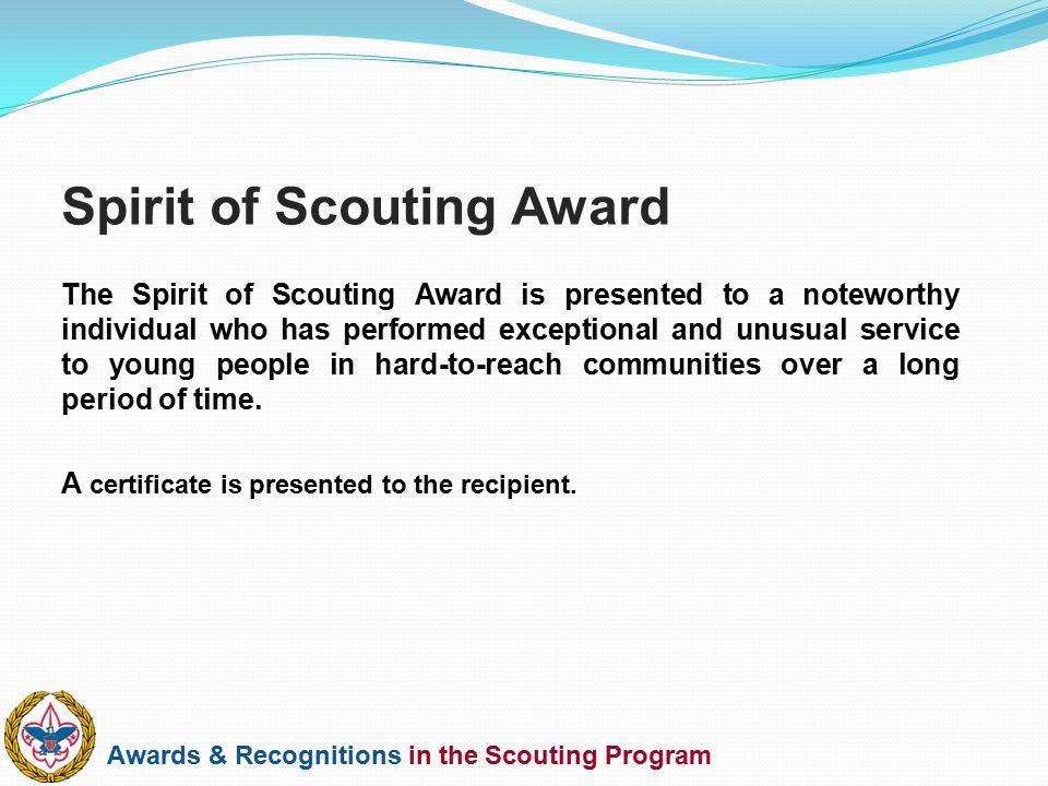 Spirit of Scouting Award