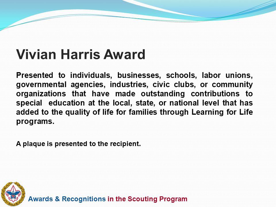 Vivian Harris Award