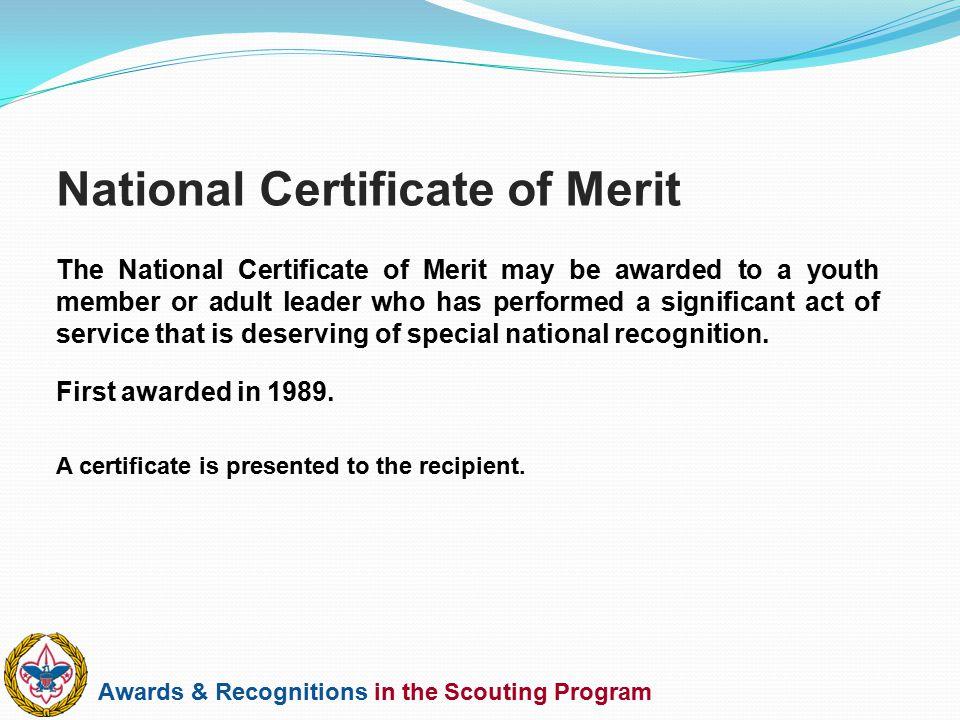 National Certificate of Merit