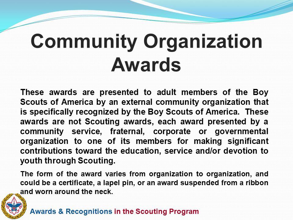 Community Organization Awards