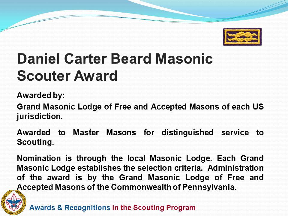 Daniel Carter Beard Masonic Scouter Award
