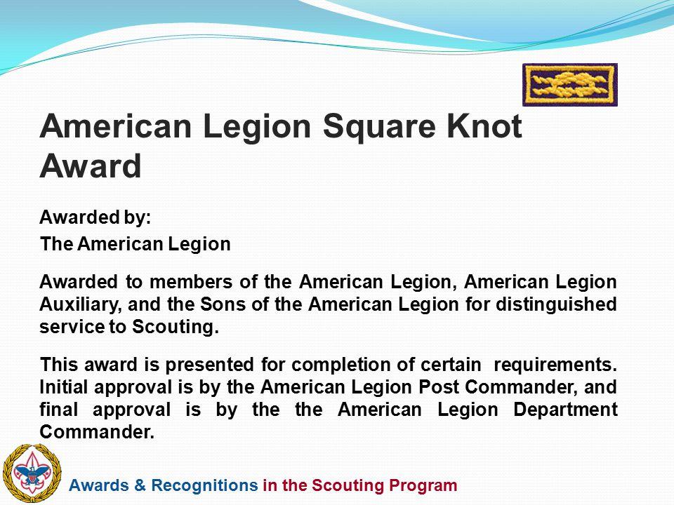 American Legion Square Knot Award