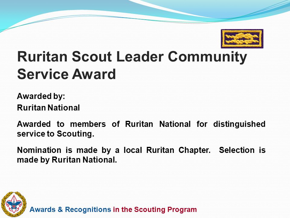 Ruritan Scout Leader Community Service Award