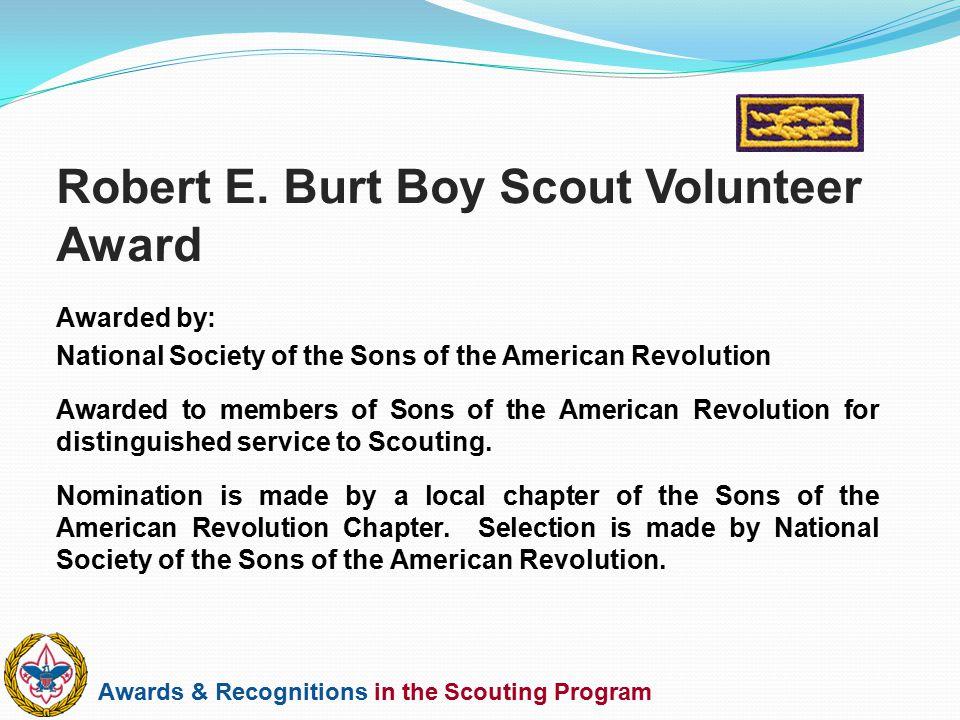 Robert E. Burt Boy Scout Volunteer Award