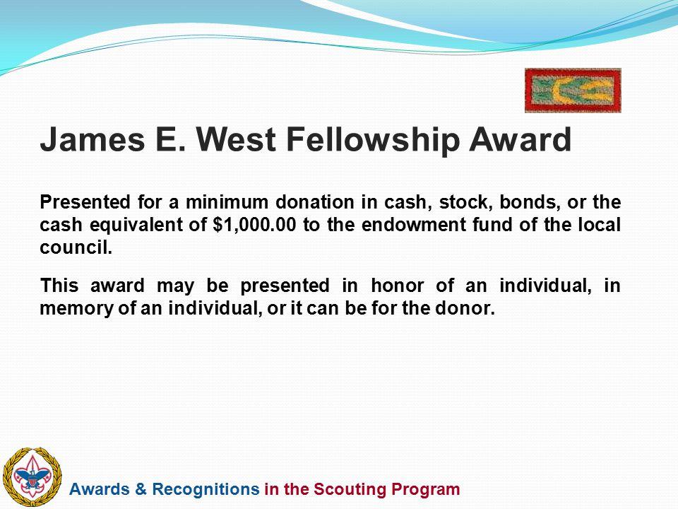 James E. West Fellowship Award