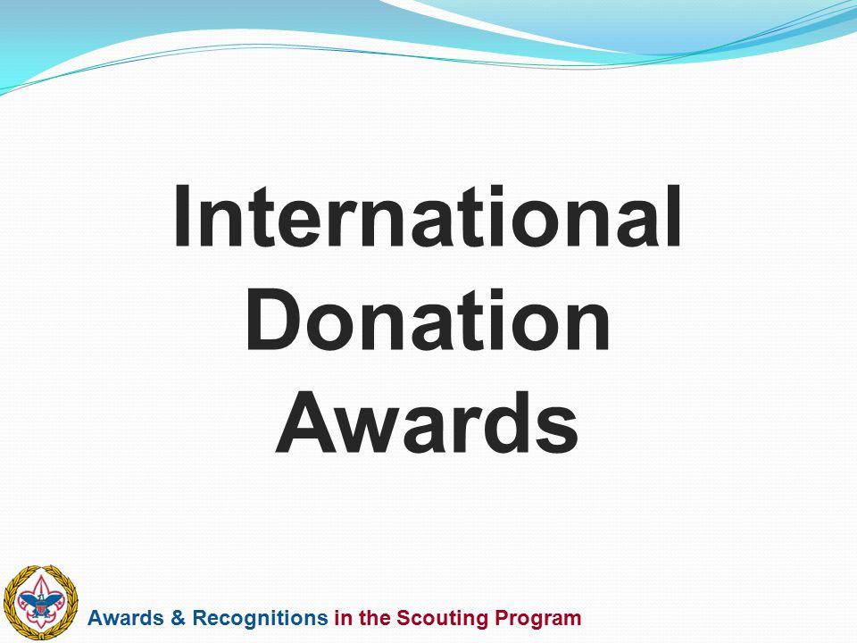 International Donation Awards
