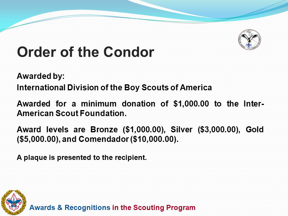 Order of the Condor Awarded by: