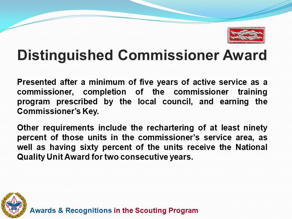 Distinguished Commissioner Award