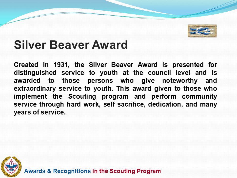 Silver Beaver Award