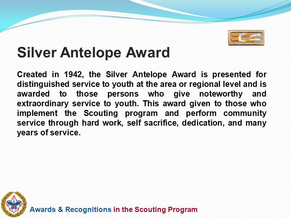 Silver Antelope Award