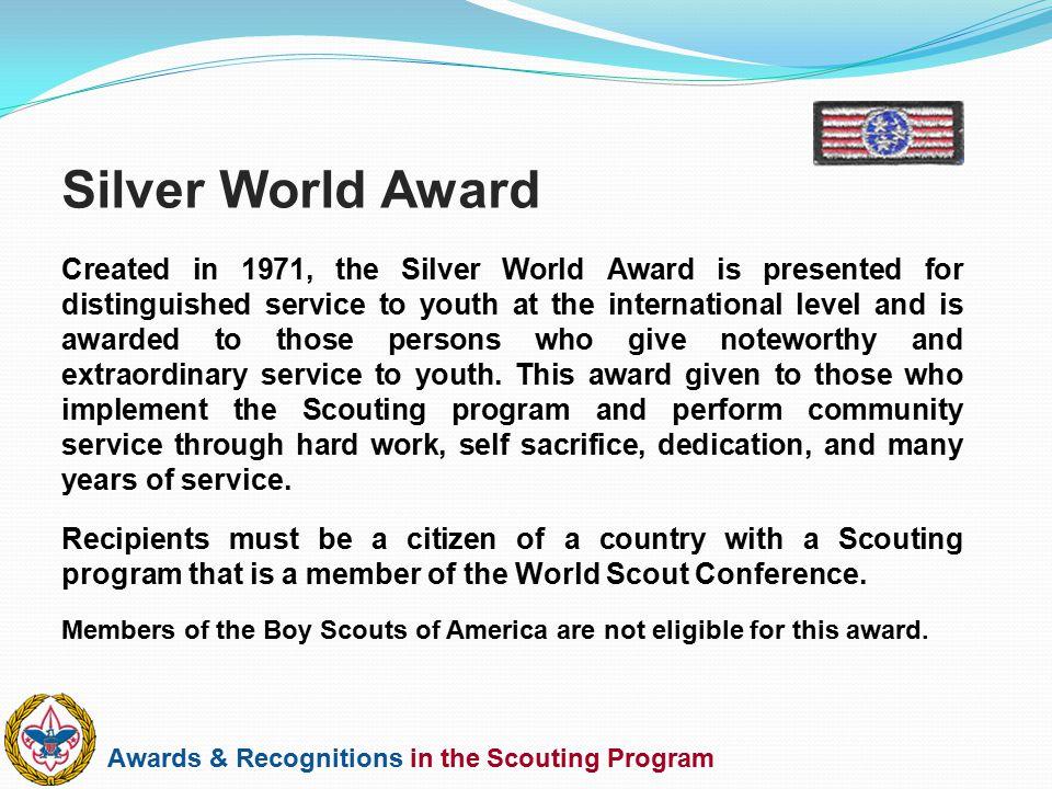Silver World Award