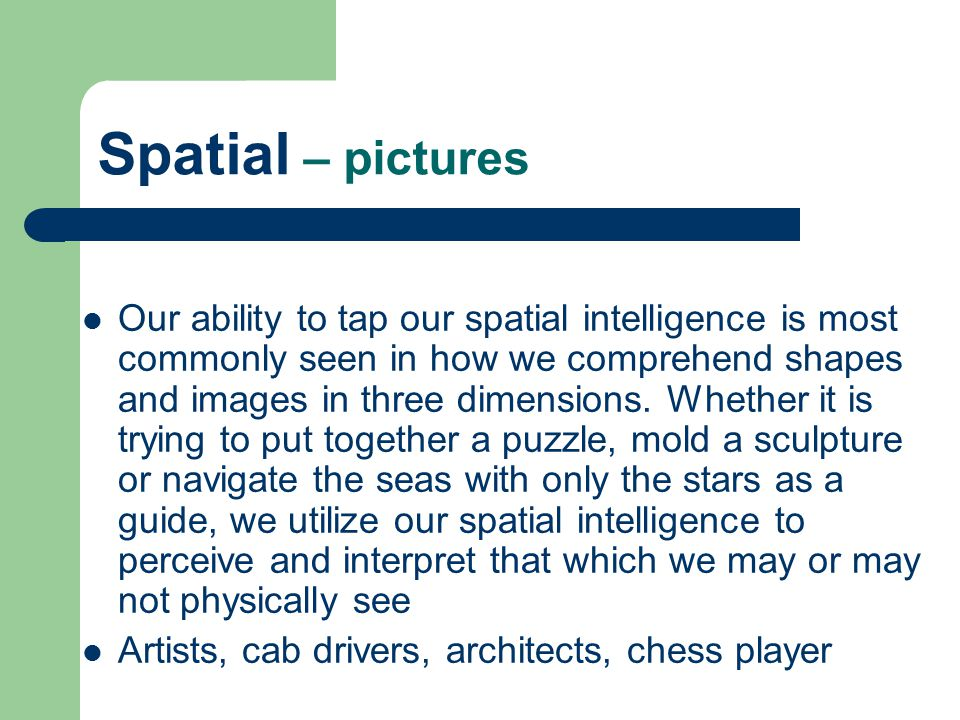 Spatial – pictures