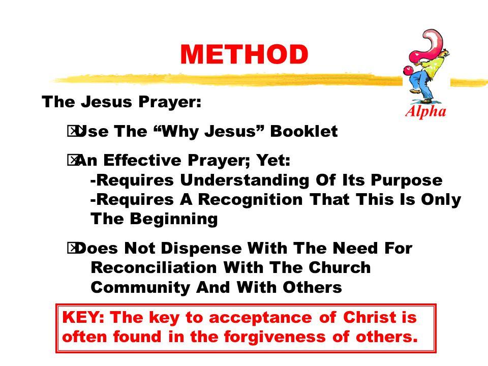 METHOD The Jesus Prayer: Use The Why Jesus Booklet